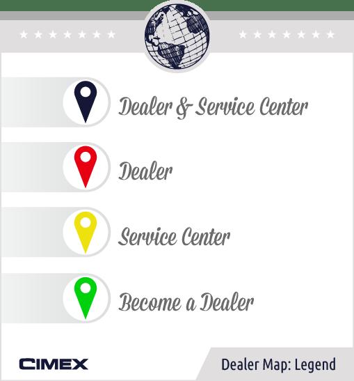Cimex Dealer Map Legend