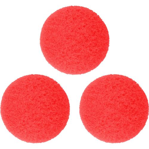 red scrub pads