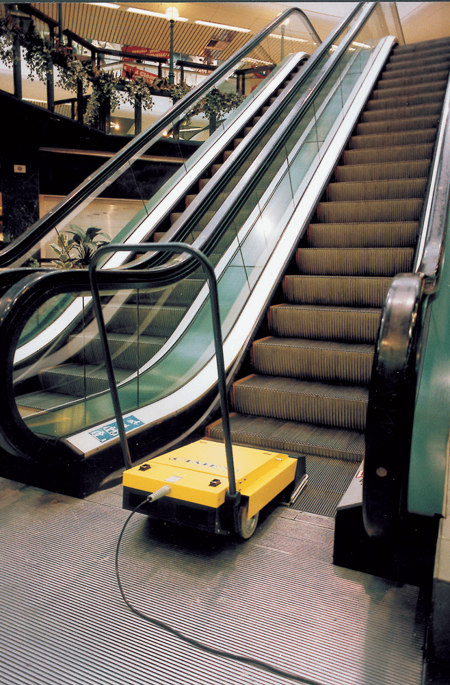 Cleaning an Escalator
